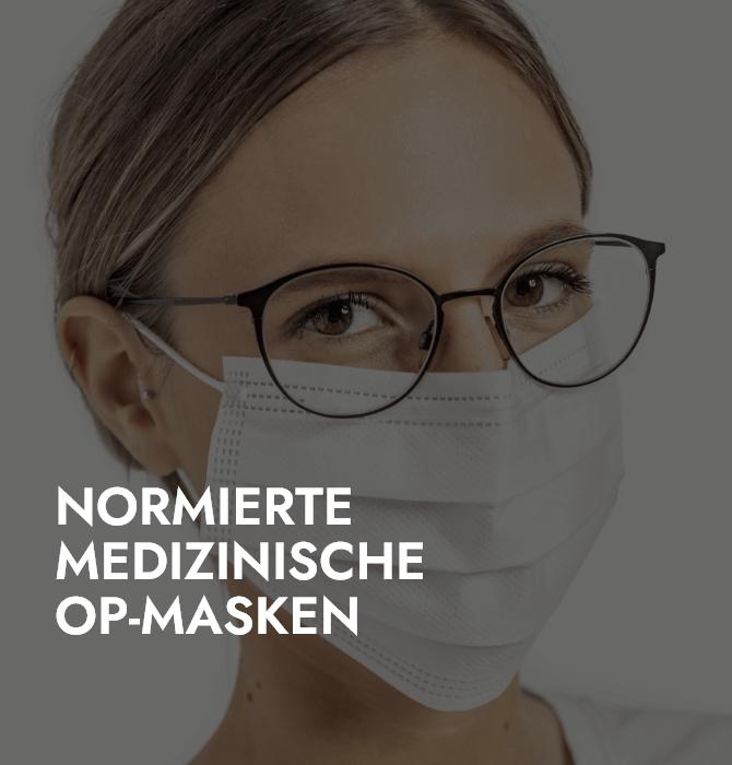 Normierte Medizinische OP-MaskenWinter Masken Vorschaubild Farbe Weiß Frau Brille