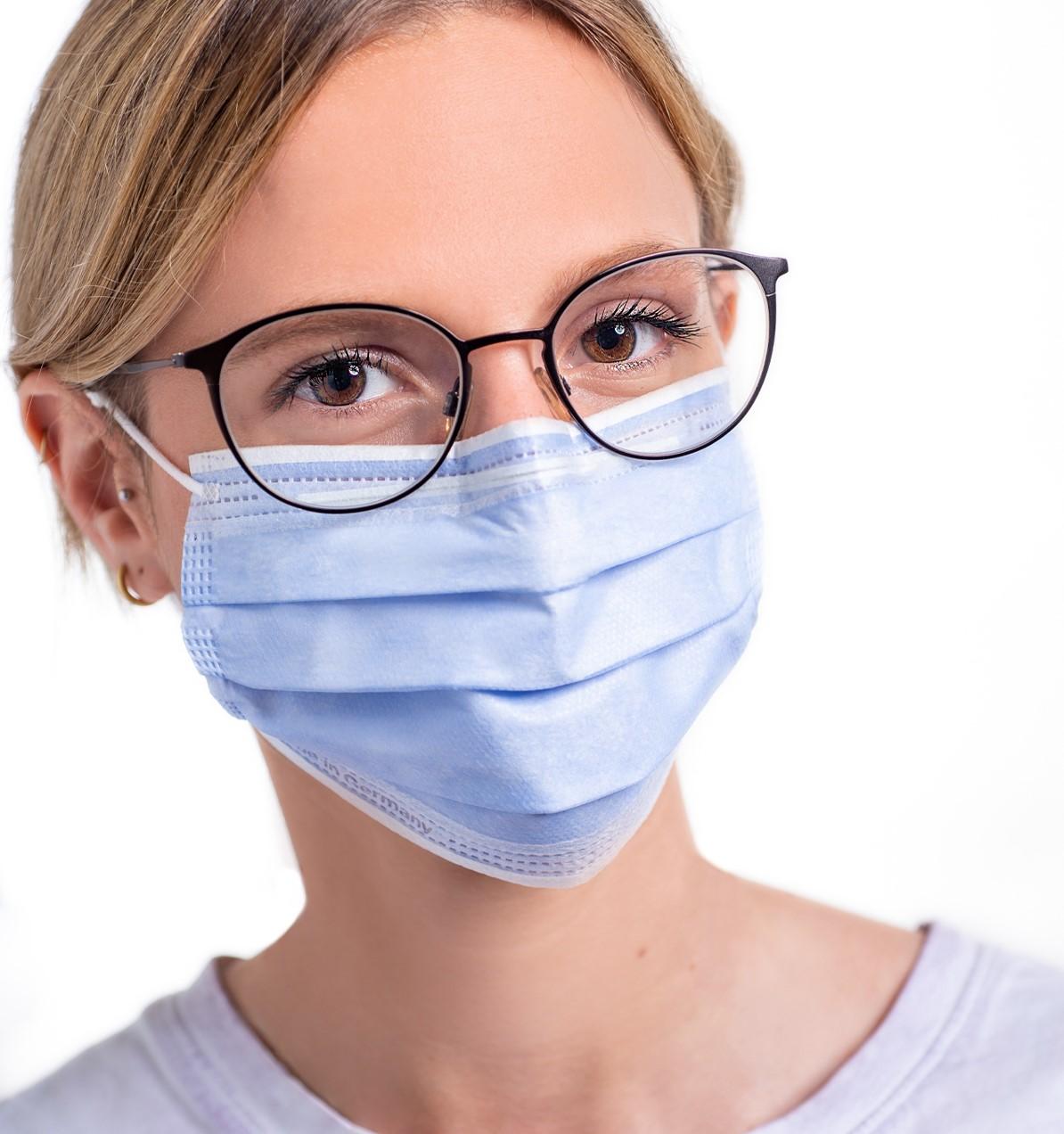 Medizinische Einweg OP-Masken 50 Stk. - Blau